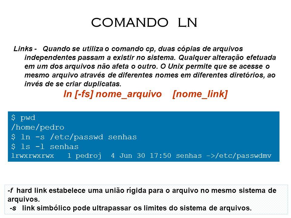ln [-fs] nome_arquivo [nome_link]